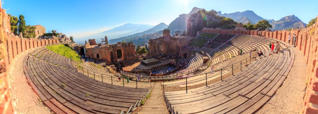 Teatro Greco de Taormina vista panoramica