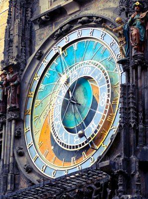 Reloj analogico de la ciudad de praga