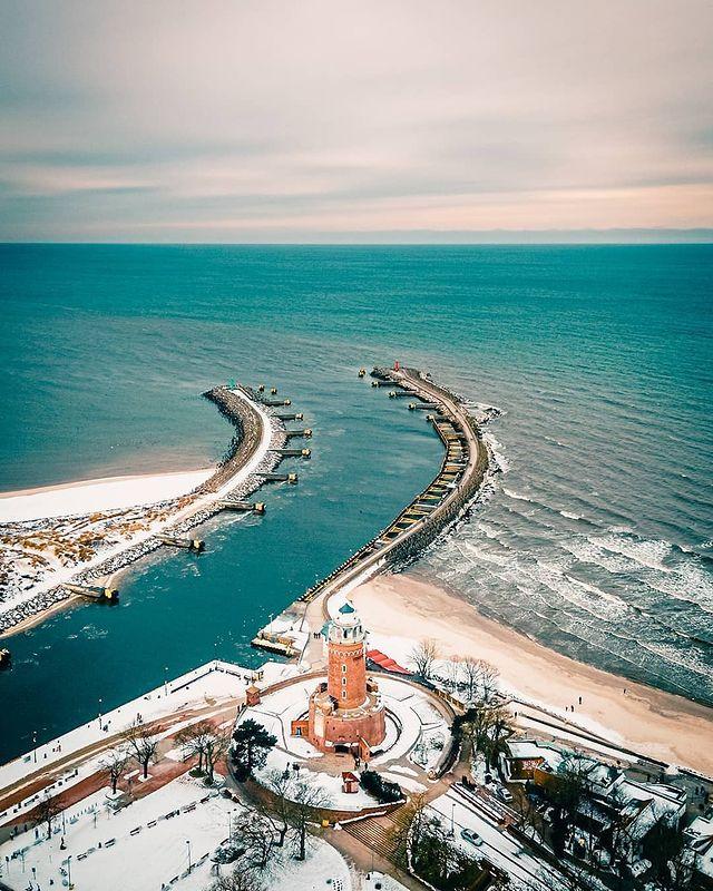 Faro de Kołobrzeg pomerania polonia