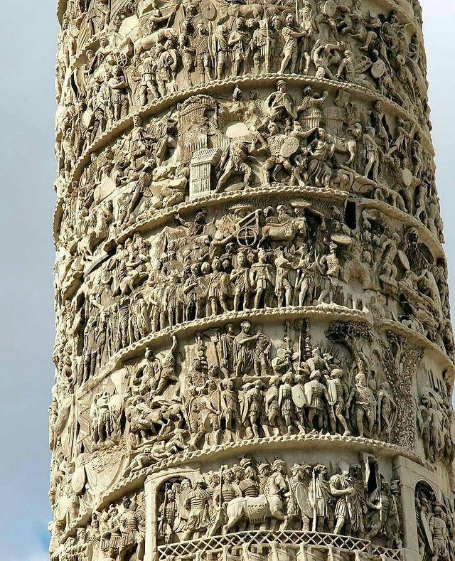 columna de piazza colonna de roma