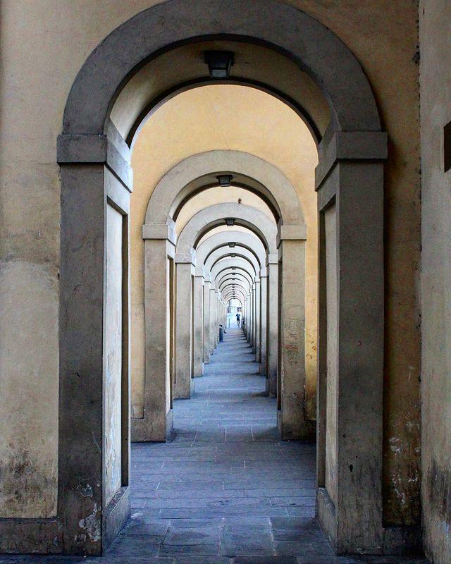 corridoio Vasariano en el ponte vecchio