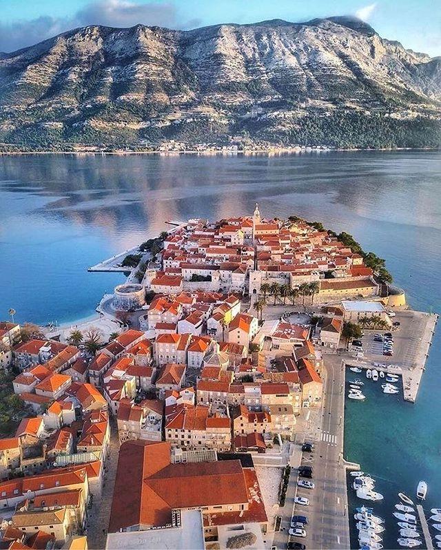 Ciudad de korkula isla Korcula croacia