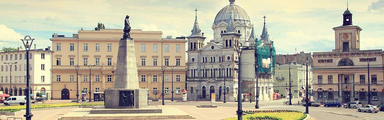 Plaza del centro de Lodz