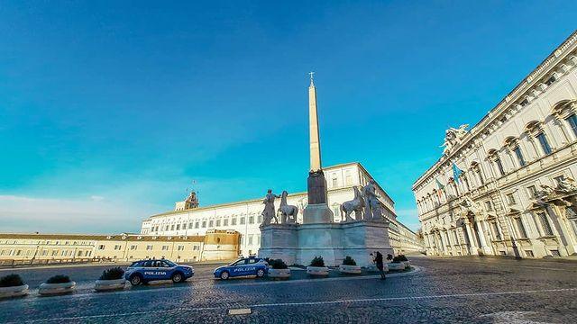 palacio quirinale en plaza quirinale de roma
