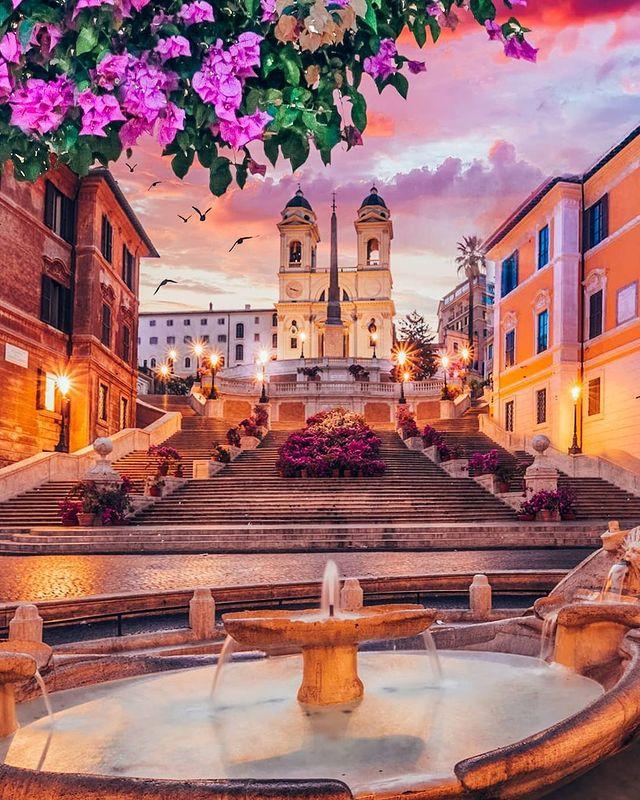 piazza di spagna de roma y scalinatas