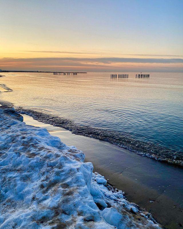 playa de Ustka pomerania polonia