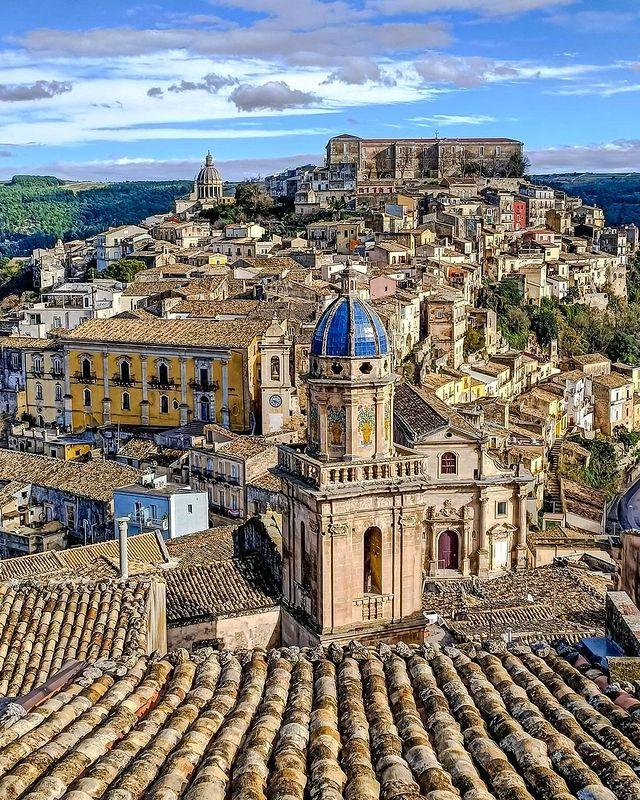Vistas de la ciudad de Ragusa