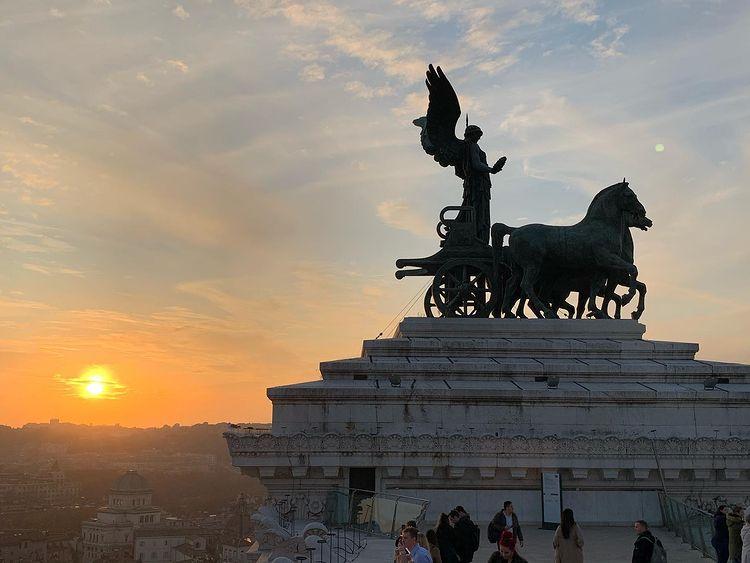 terraza panoramica del altar de la patria de roma