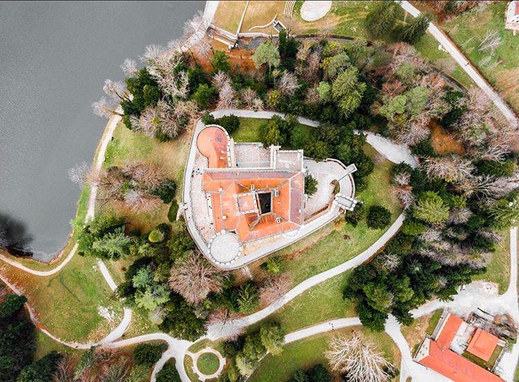 trakoscan castillo croacia desde el aire