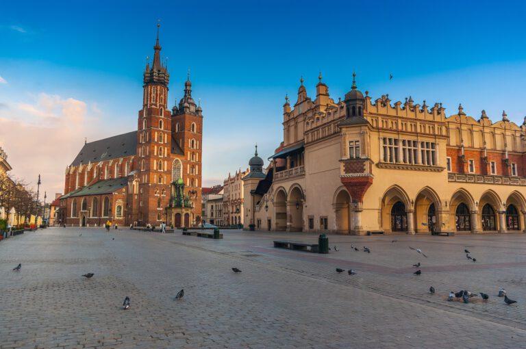 Vistas del centro historico de Cracovia