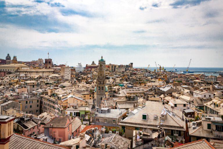 Vistas panoramicas de la ciudad de Genova
