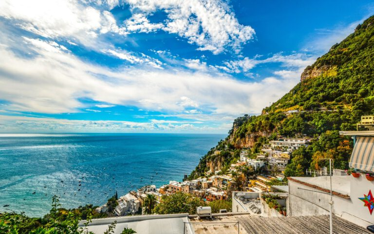 Vistas de la costa amalfitana-amalfi