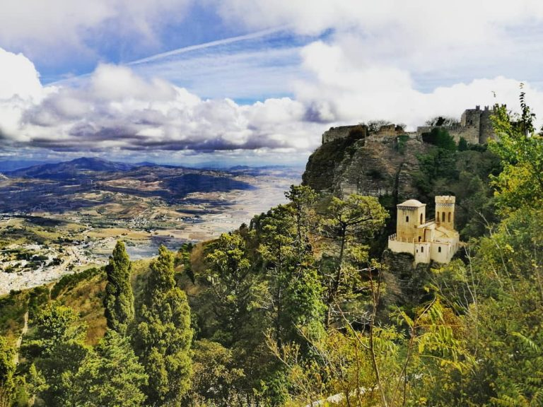vistas de erice sicilia