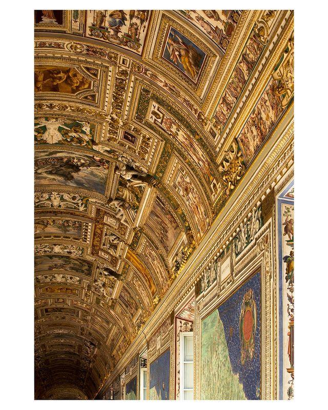 interior de los museos Vaticanos