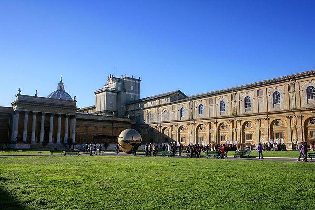 patio de los museos Vaticanos